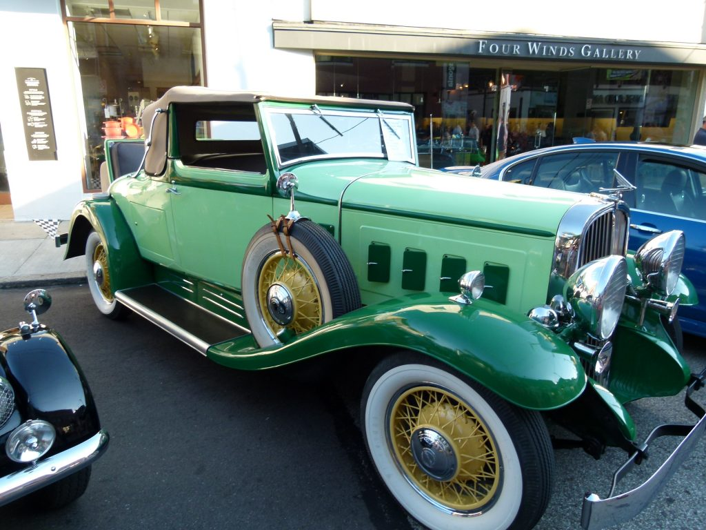 This beauty is a 1932 Franklin 163 Convertible. Notice the rumble seat in the back. (photo: Rick Handler)