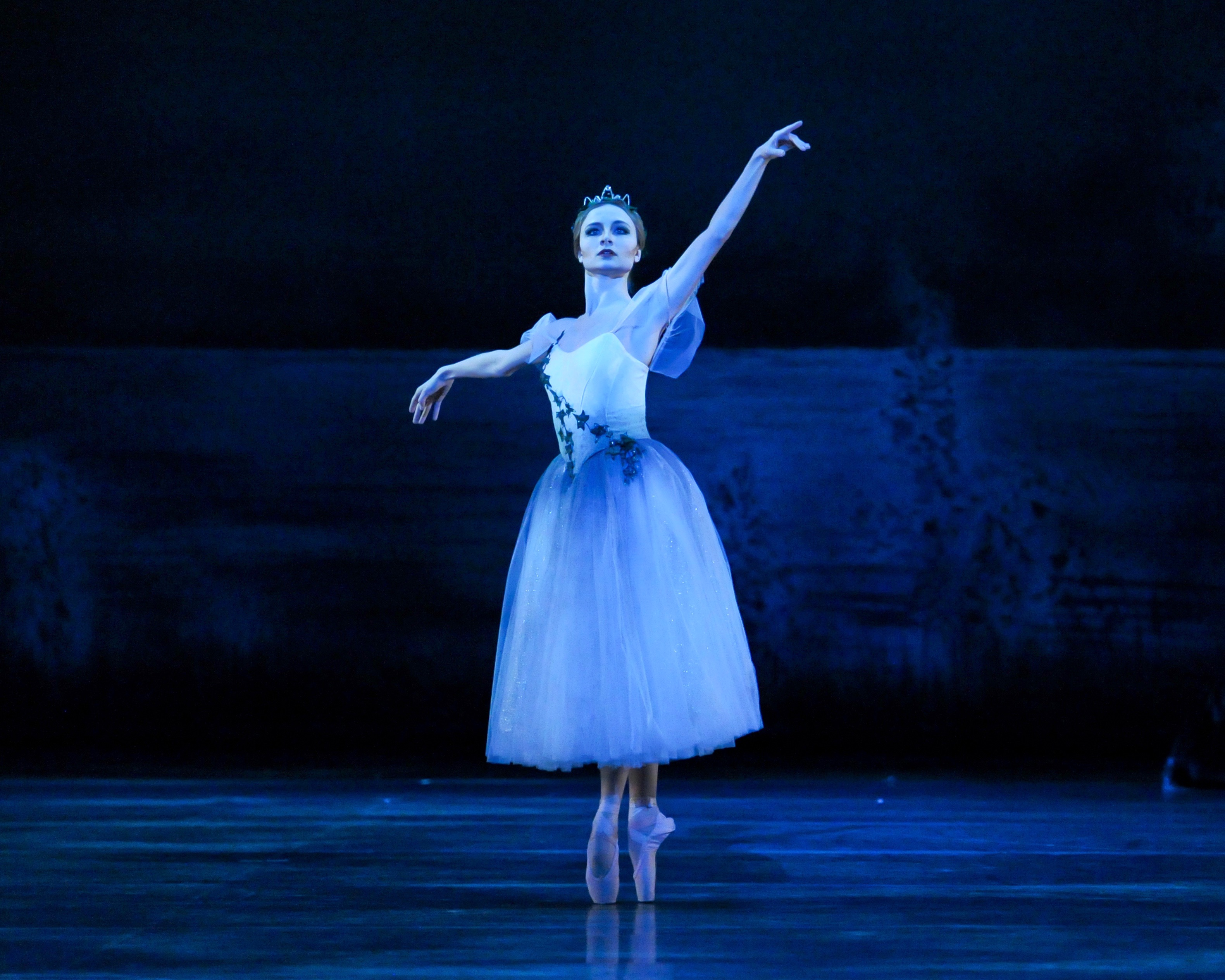 Drawn from dark ghost legends, 'Giselle' has spooked, and delighted, audiences since 1841. Diana Yohe casts a spell in Pittsburgh Ballet's production. (photo: Rich Sofranko)