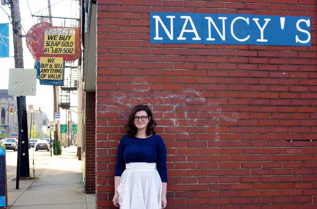 Nancy's East End Diner co-owner Markie Maraugha outside the diner on South Avenue. Photo; Heather McCracken