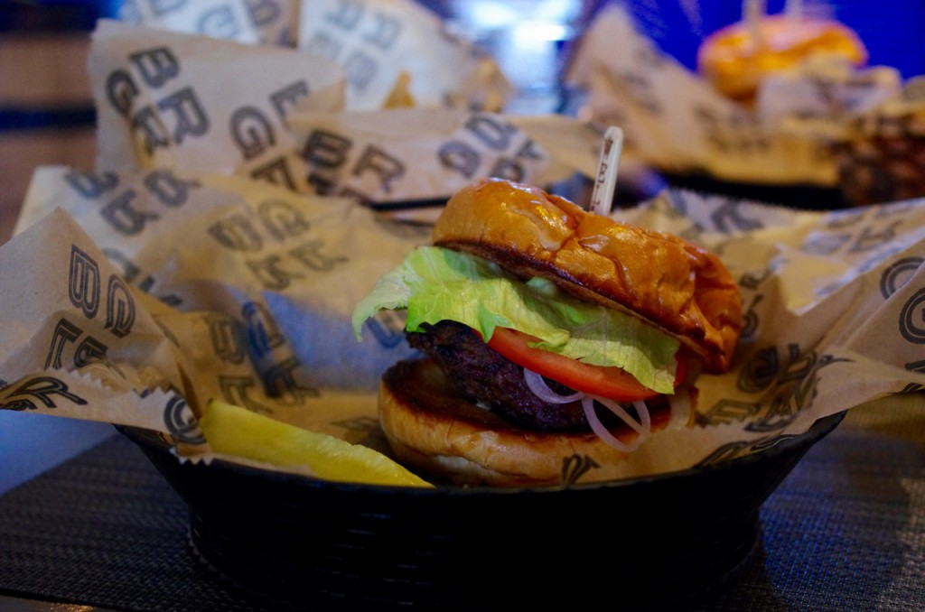 The Average Joe burger from BRGR is a classic menu item.