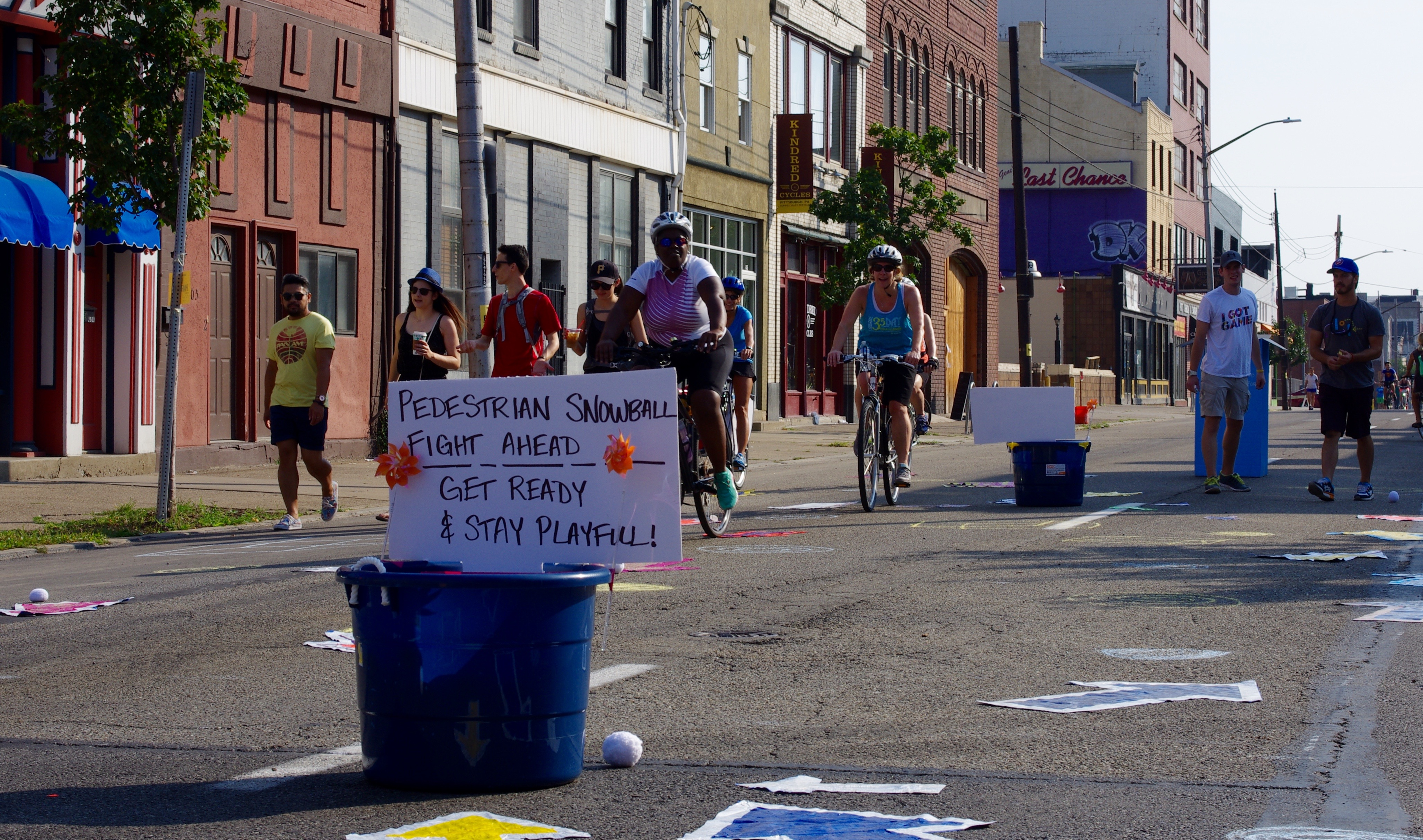 Games and activities were staged throughout the Open Streets route.
