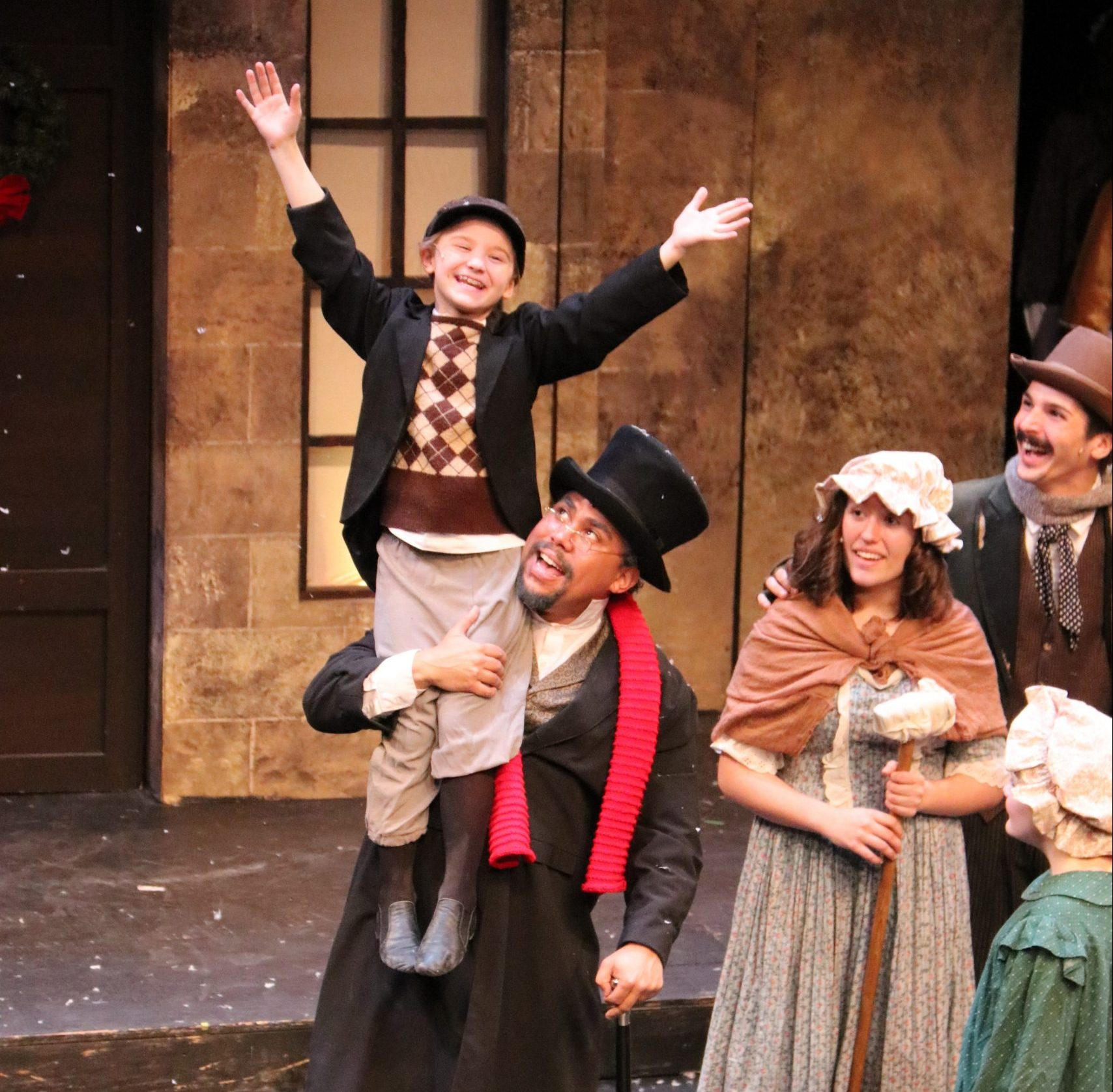Sometimes, hard times have a happy ending, as they do in 'A Lyrical Christmas Carol.' (photo: Pittsburgh Musical Theater)