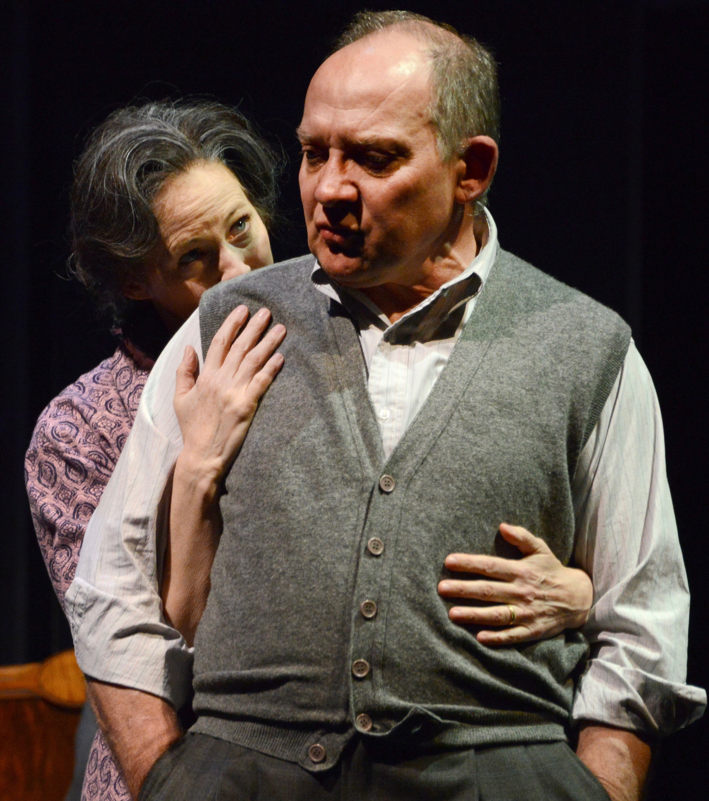 "Zach Grenier is Willy Loman and Kathleen McNenny plays his wife Linda in ""Death of a Salesman."""