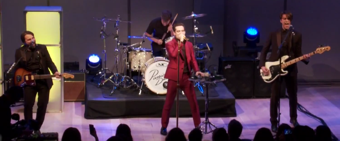 Panic! at the Disco performing at the Shorty Awards in 2015. photo: JD. LaVanway and Wikipedia.