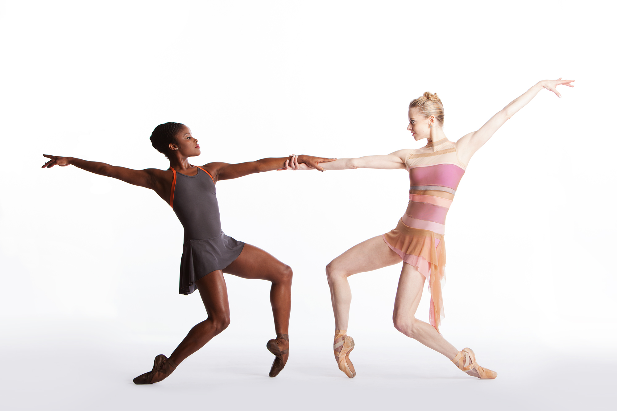Dancers Ingrid Silva and Julia Erickson perform a number from their company's' joint production. photo: Duane Rieder.