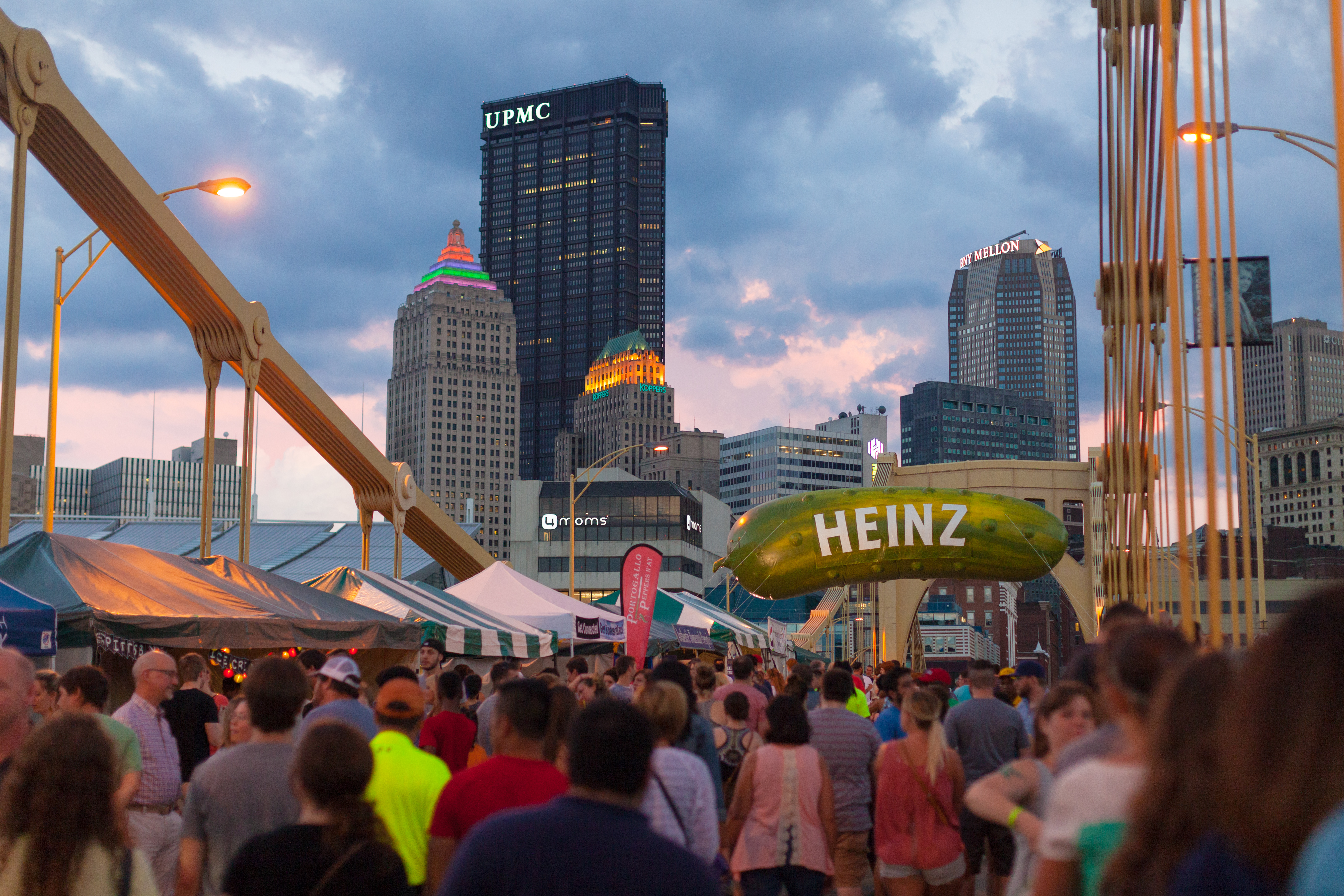 A Picklesburgh (Festival) sunset. This year's festival is July 26-28. (photo: Renee Rosensteel for the Pittsburgh Downtown Partnership)