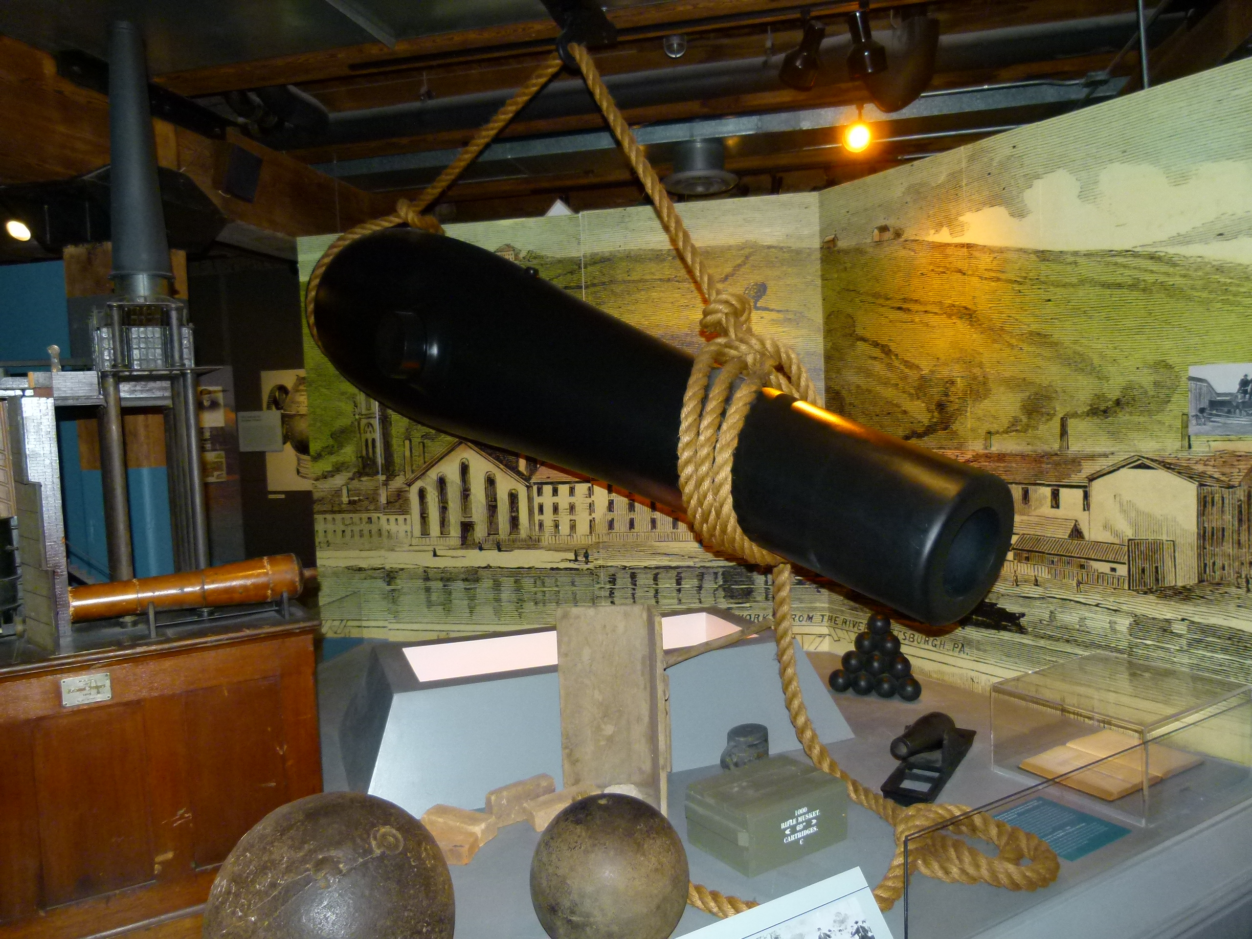 Many cannons and other military products were forged in Pittsburgh mills over the years.