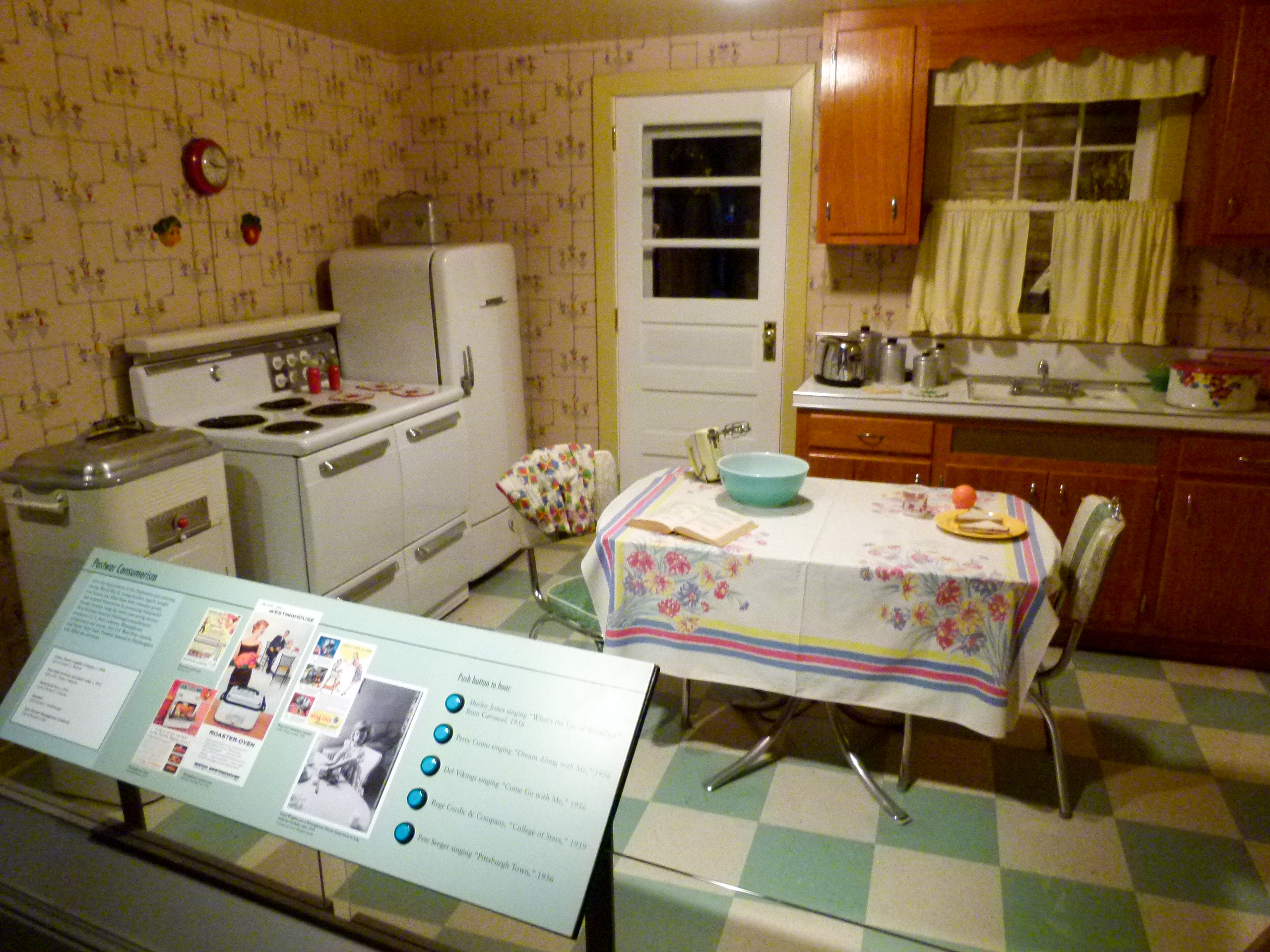 "A Pittsburgh home of the 1950's with its ""modern"" appliances."