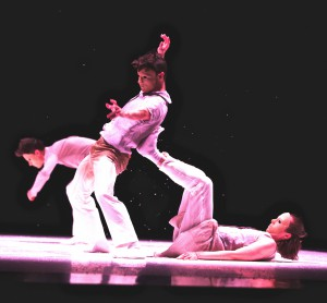 """Lidberg's dancers teeter and swing through a surreal milieu in """"Snow."""""""