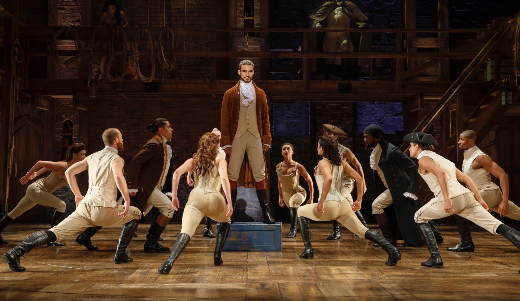 Yep, that's him. And that's an ensemble of tremendous dancers who add to the impact of 'Hamilton.' Austin Scott plays the lead in this touring-company photo, although the role in Pittsburgh shifts mid-run to actor Edred Utomi.