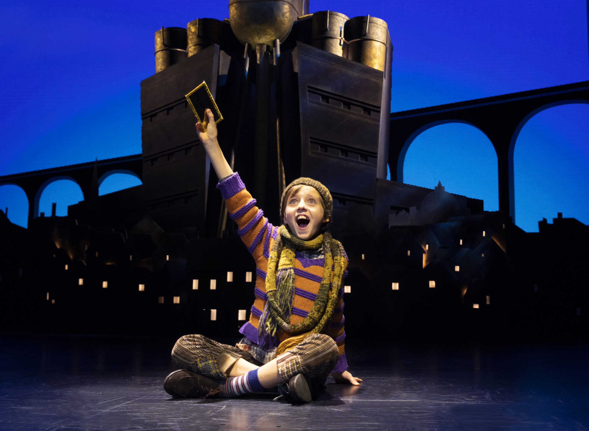 Charlie's got a golden ticket—and Roald Dahl fans surely have tickets for the musical version of 'Charlie and the Chocolate Factory.' (photo courtesy of the touring company)