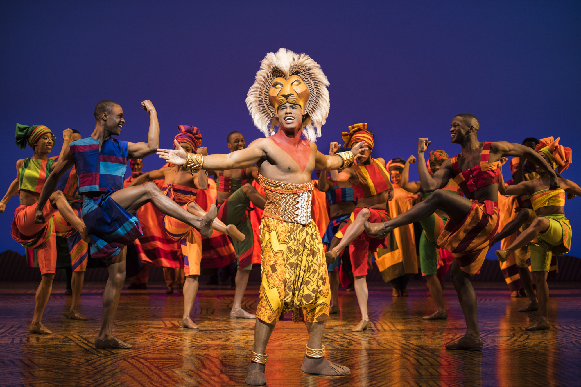 Jared Dixon as Simba heads an amazing cast in the new touring production of 'The Lion King.' (photo: Deen van Meer, © Disney)
