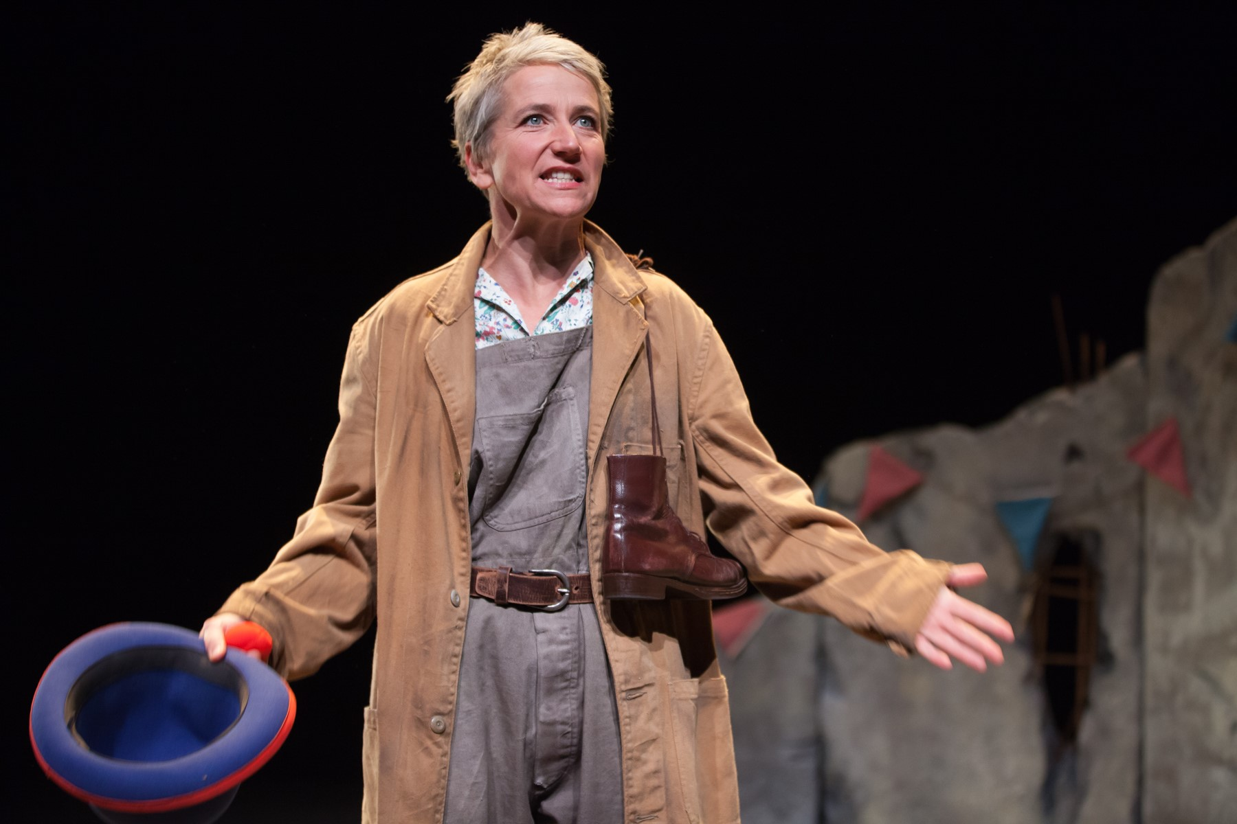 After the wartime bombing of Dresden, refugees sought hope between a city in flames and their own country's dying regime. 'An Elephant in the Garden' presents the Michael Morpurgo story on stage. (photo courtesy of Pittsburgh Cultural Trust)