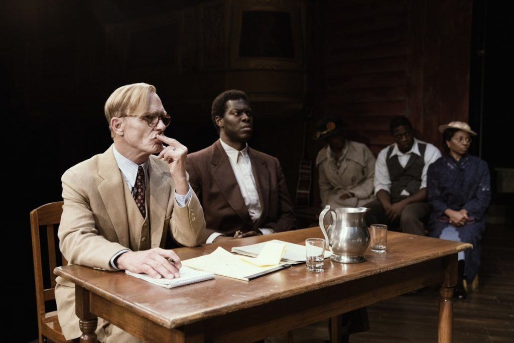 Atticus Finch (Ed Harris) looks pensive during the trial portion of 'To Kill a Mockingbird.' (photo: Julieta Cervantes)