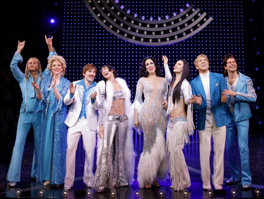 The outfits are part of the fun in 'The Cher Show.' (photo: Joan Marcus)