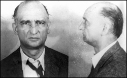 Rudolf Abel's 1957 FBI mug shot caught him with necktie askew, subliminally suggesting a noose ...