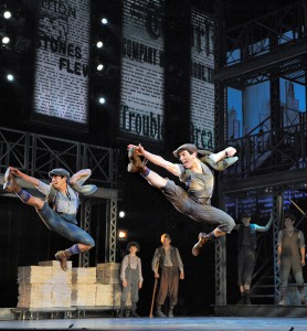 "Broadway company of ""Newsies."" Photo: Deen van Meer."