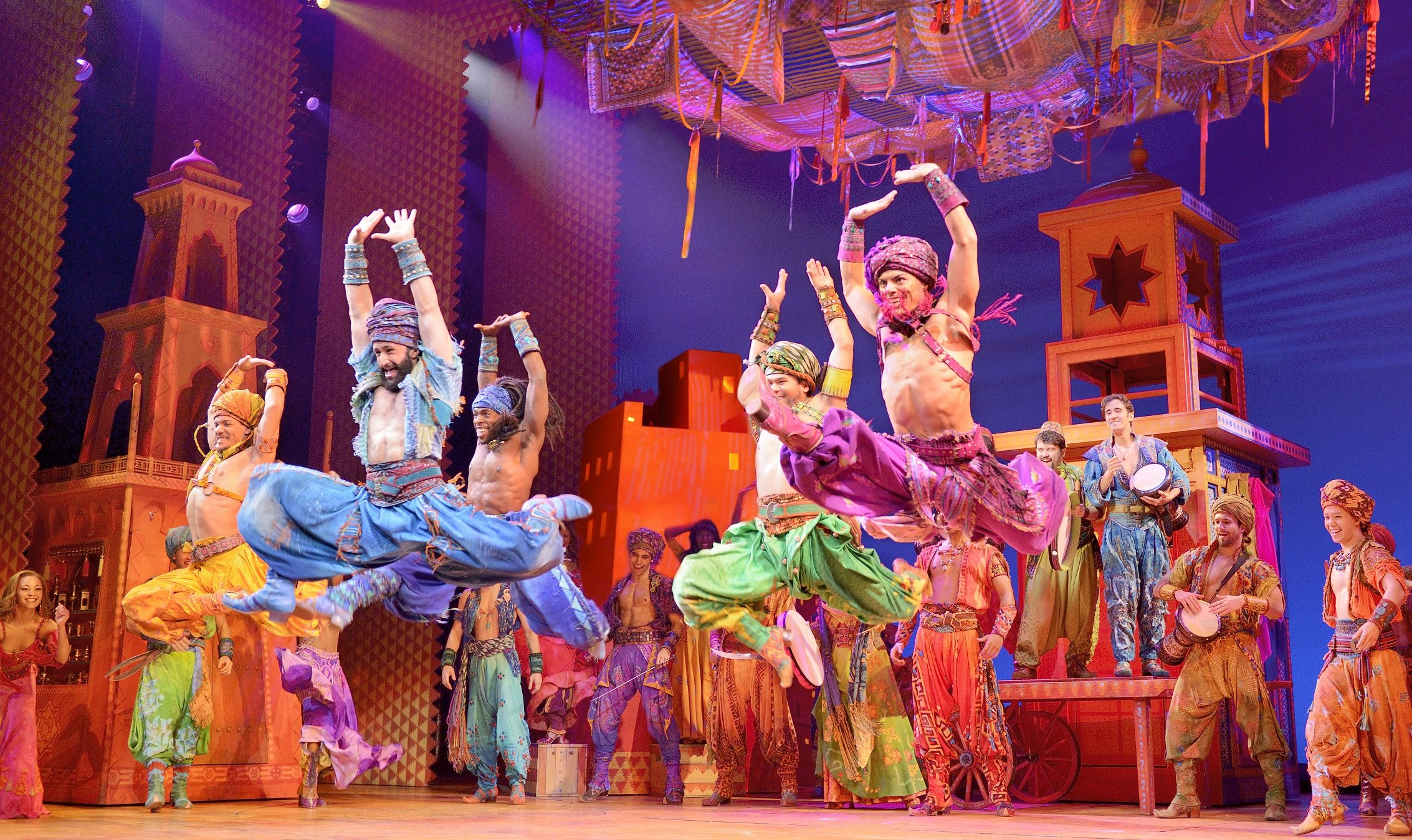 Talk about synchronicity: These dancers are def in synch, in 'Disney's Aladdin.' (Photo: Deer van Meen)