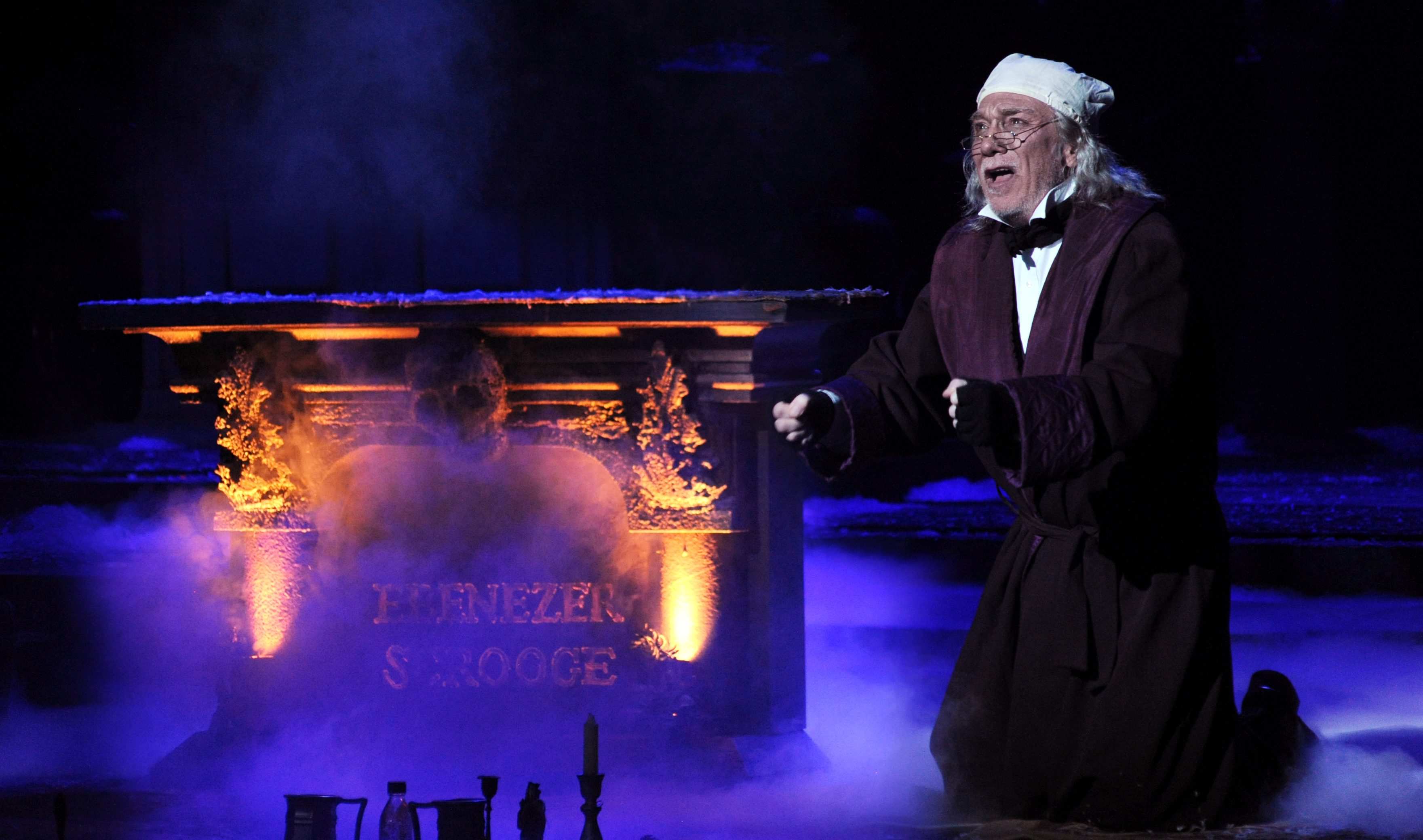 Scrooge (Patrick Page) sees the fires of Hell a-burnin' and begs for a re-do. If the feeling hits home, that's one reason the story has lived on; Pittsburgh CLO's adaptation adds new twists to the Dickens original.