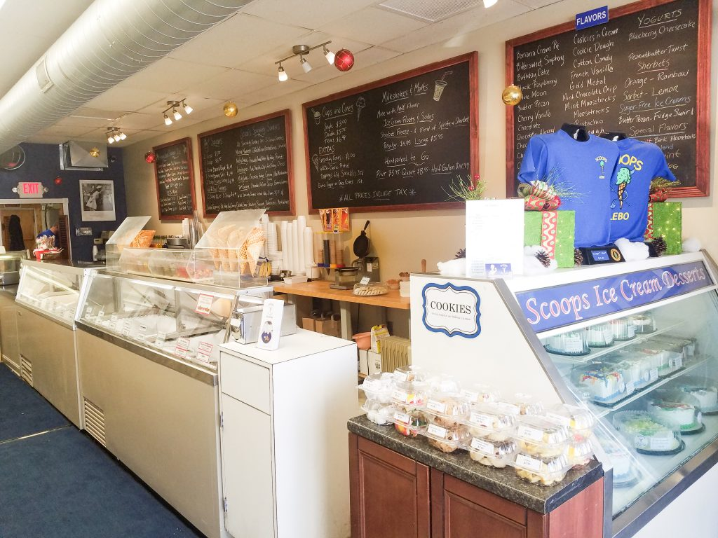 Over 40 flavors of ice cream, ice cream cakes, and cookies are the man categories of sweet treats offered at Scoops Pittsburgh shops. (photo: Rick Handler)