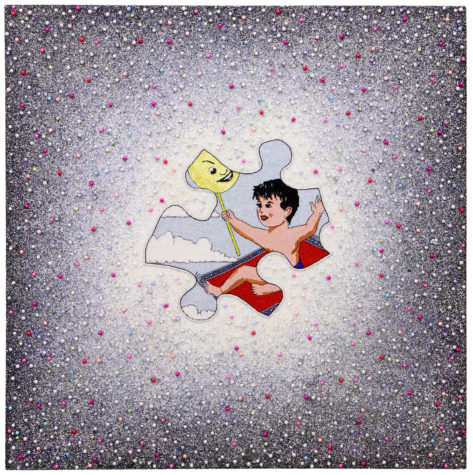 Moshiri's 'Self-Portrait on Flying Carpet' (2009) is a dream, in every sense.