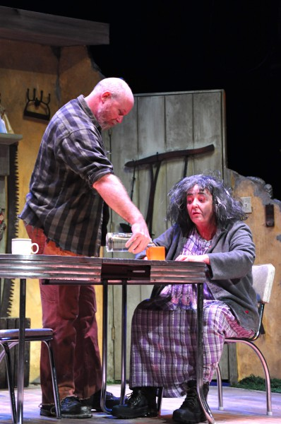 Don't let the haggard look fool you. Maryjohnny (Sharon Brady) is sharp as a tack and she's getting free drinks from Mick.