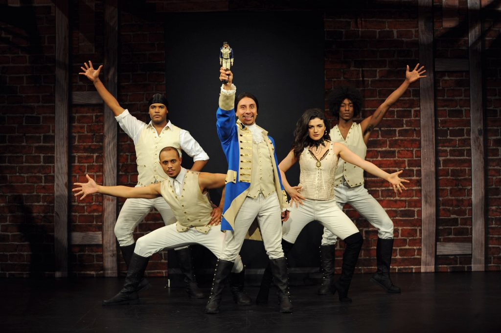 Pittsburgh CLO staging 'Hamilton' paraody play 'Spamilton.' (photo: Matt Polk).