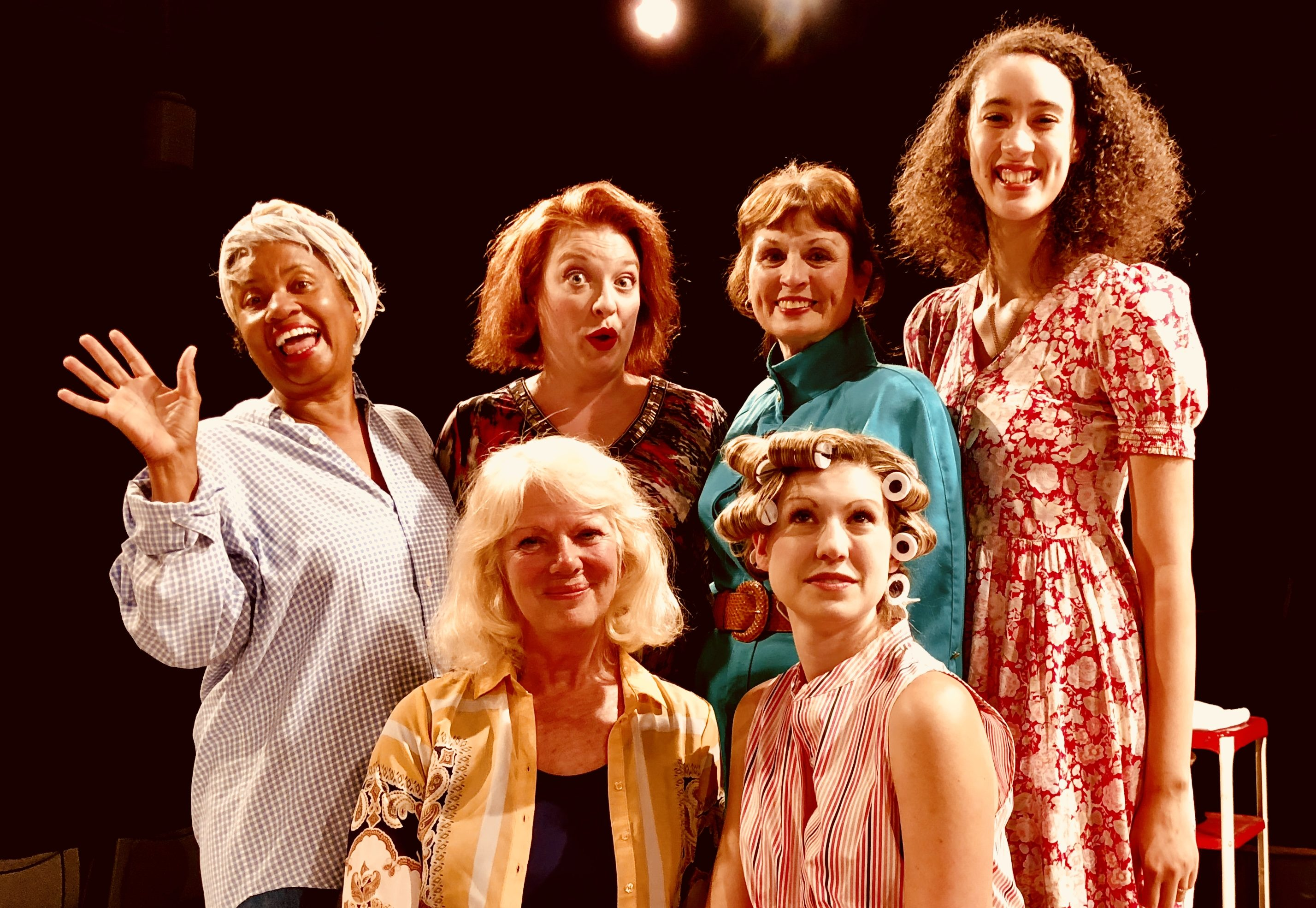 Oh yeah: The women in Little Lake's 'Steel Magnolias' are (L to R, standing) Lynnelle Goins, Kauleen Cloutier, Joyce Miller, and Italia Nowicki; (front) Carol Ann Schussler and Ellen Emery.