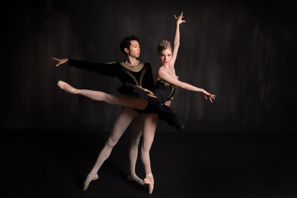Principal dancers Yoshiaki Nakano (Prince Siegfried) and Amanda Cochrane (pictured here as Odile).