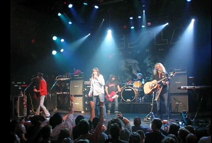 Tesla performing in Poughkeepsie, New York in 2009. (photo: LindaLisa and Wikipedia).