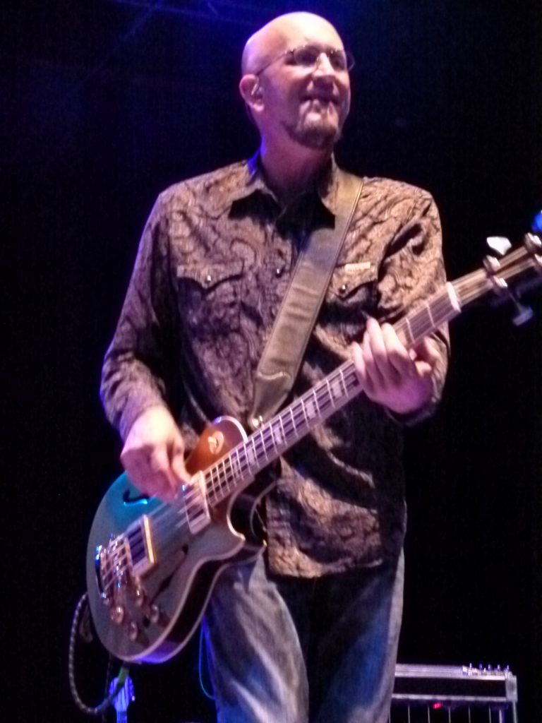 Greg Joseph gives the band a strong and steady bass line to rock on.