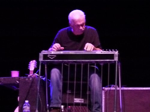 Gary Jacob playing pedal steel guitar.