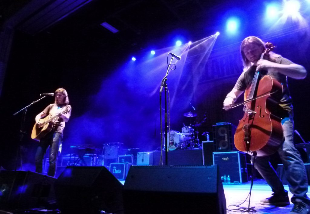 Blasey and Simon Cummings of Cello Fury perform 'Madly in Love at the End of the Word.'