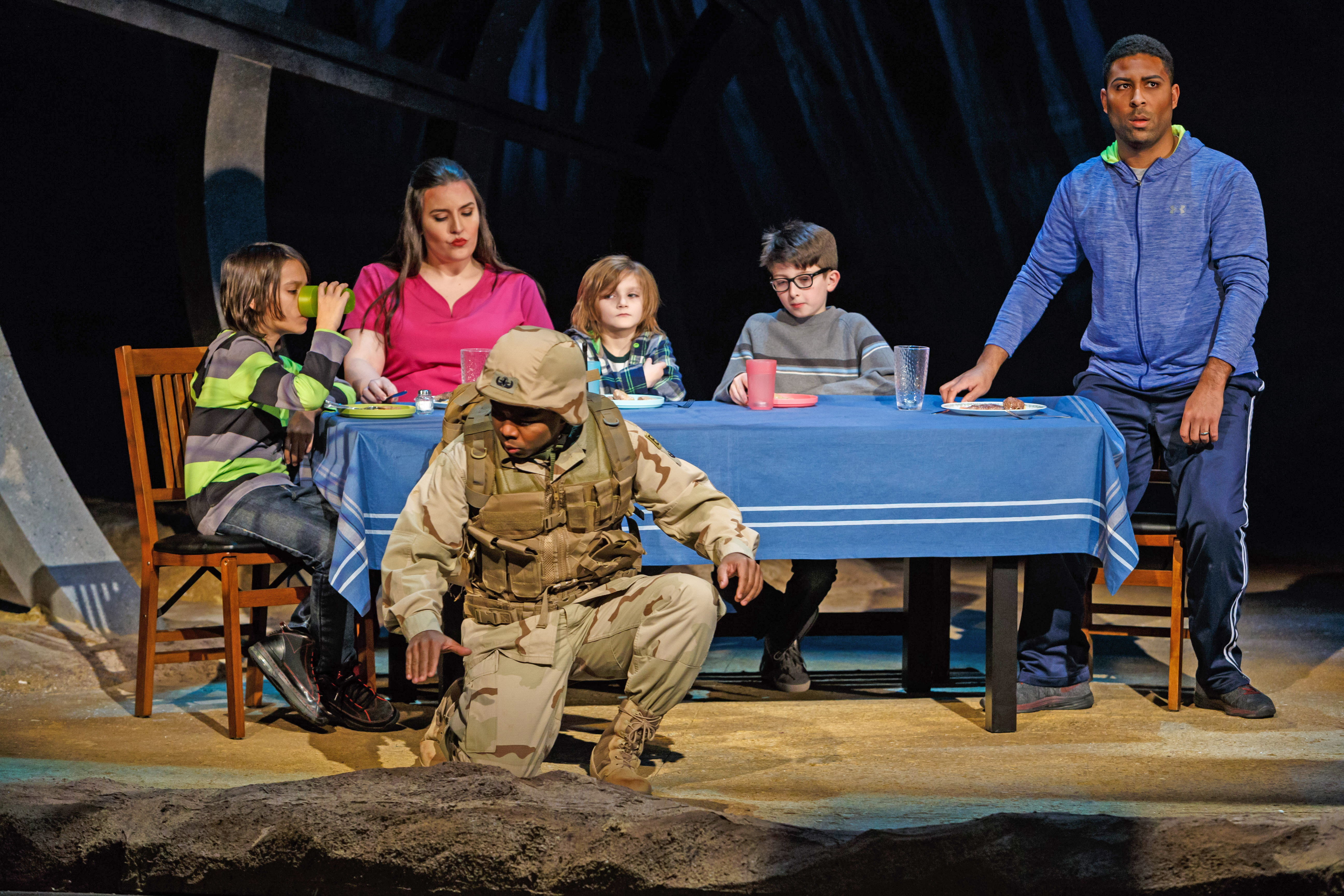 A soldier (Benjamin Taylor) tries to adjusts to life back home after his duty is done in Pittsburgh Opera's 'The Long Walk.' Photo: David Bachman Photography.