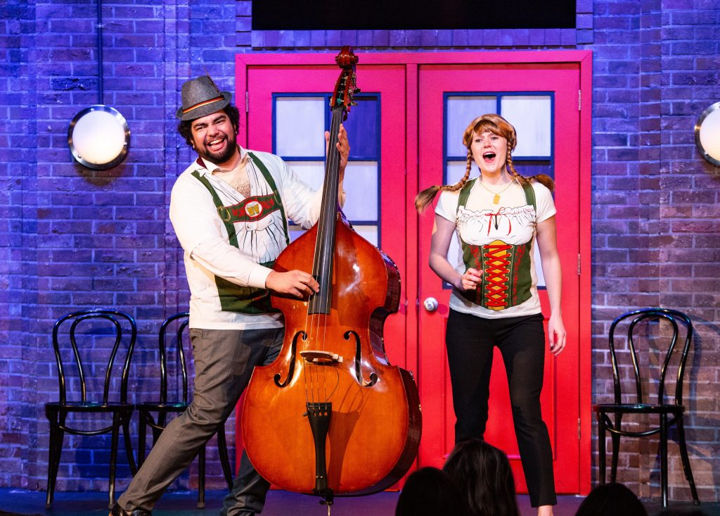 Having fun here are Jordan Savusa and Meghan Babbe in 'The Second City's Greatest Hits: Volume 59.' (Photo: Tim Schmidt)