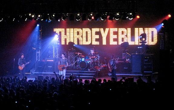 Third Eye Blind performing in a 2007 concert at the Kuhl Gymnasium at SUNY Geneseo. photo: Benjamin D. Esham and Wikipedia.