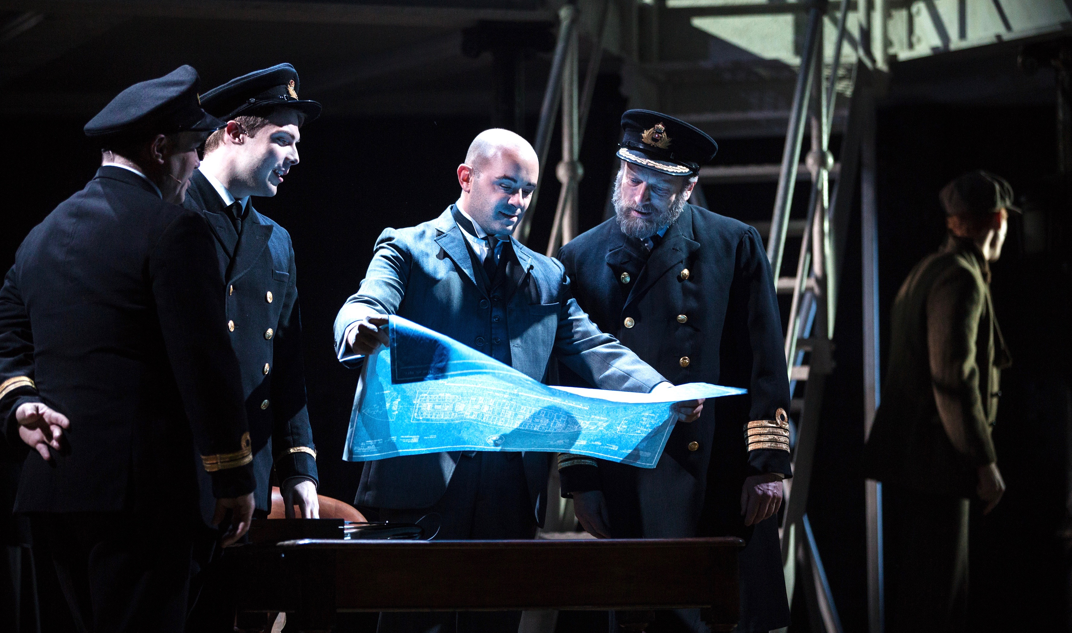 There won't be smooth sailing for these gents: that is a blueprint of the RMS Titanic. Pittsburgh CLO presents the musical 'Titanic' as part of a June theater lineup that includes happier endings as well.