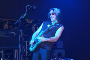 Todd Rundgren jamming in concert in 2009. photo: Carl Lender.