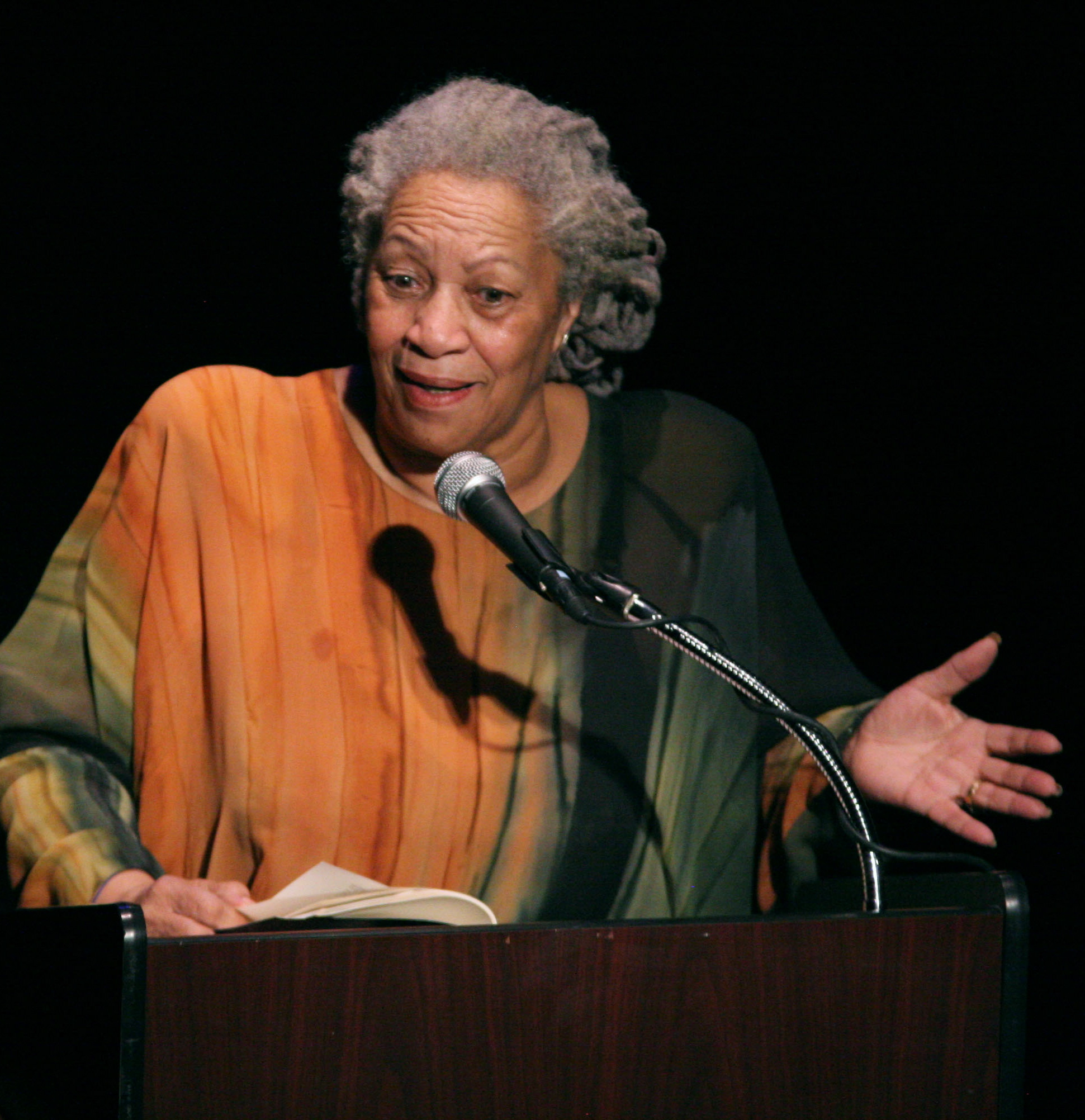 """Toni Morrison, shown here in 2008, lit a fire with her 1970 book """"The Bluest Eye."""""""