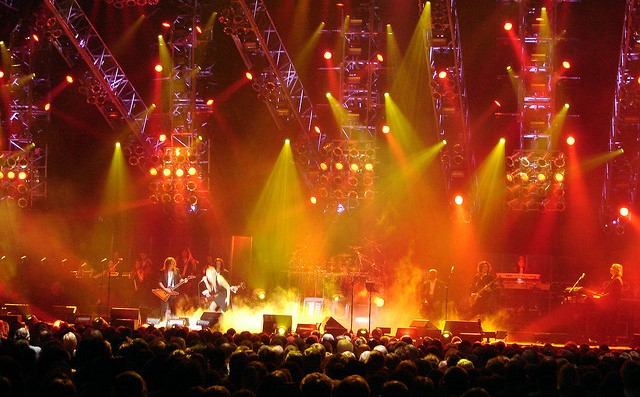 The Trans-Siberian Orchestra performing at the Hershey Giant Center in 2004. (photo: Matt, TSO, and Wikipedia)