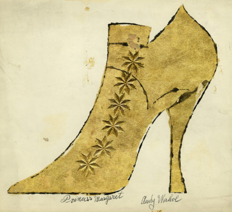 "The 'Adman' exhibit contains many examples of Warhols shoe illustrations including this work on paper. Andy Warhol and Julia Warhola, ""Princess Margaret"", ca. 1957, The Andy Warhol Museum, Pittsburgh, © The Andy Warhol Foundation for the Visual Arts, Inc."