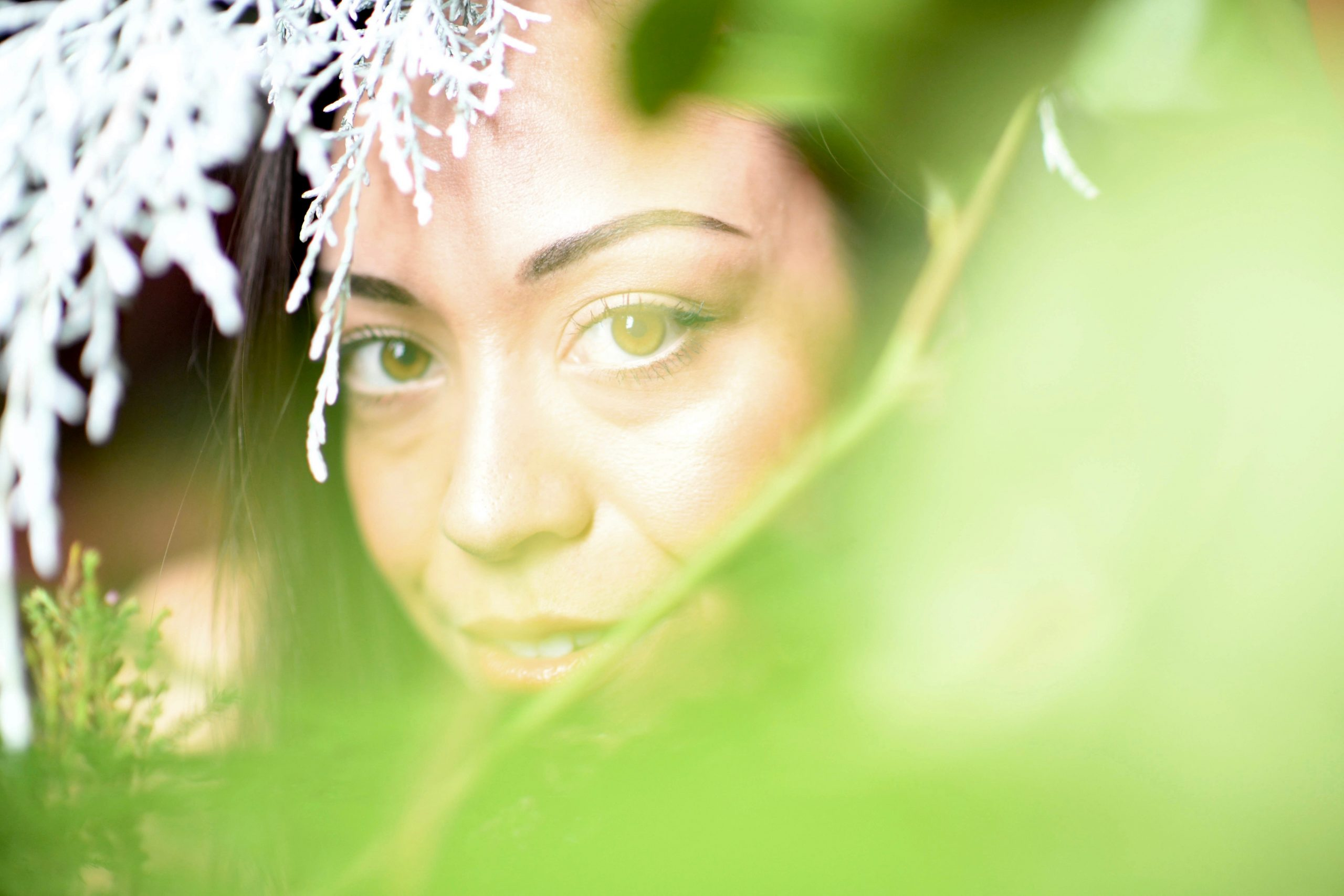 Looking elusive but proving steadfast, Helena is a key character amid the hijinks in 'A Midsummer Night's Dream.' Zoe Abuyuan plays the role for PICT. (photo: Maria Palermo)