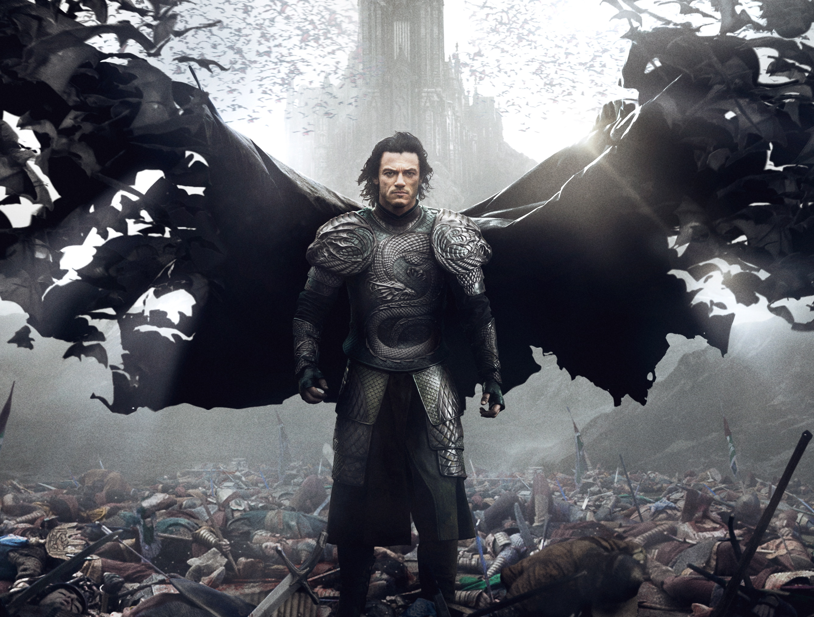 Vlad the Imapler (Luke Evans) standing over the vanquished. photo: Universal Studios