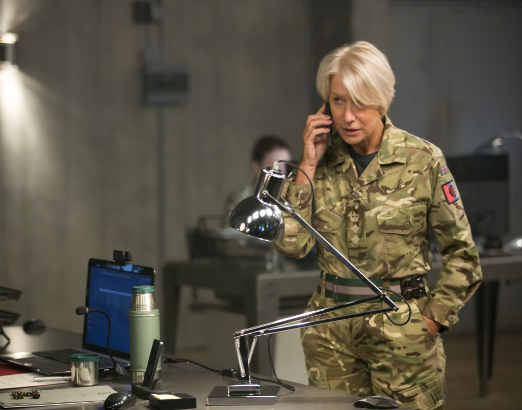 Helen Mirren stars as Colonel Katherine Powell in the dramatic thriller 'Eye in the Sky,' a Bleecker Street release. photo: Keith Bernstein/Bleeker Street.