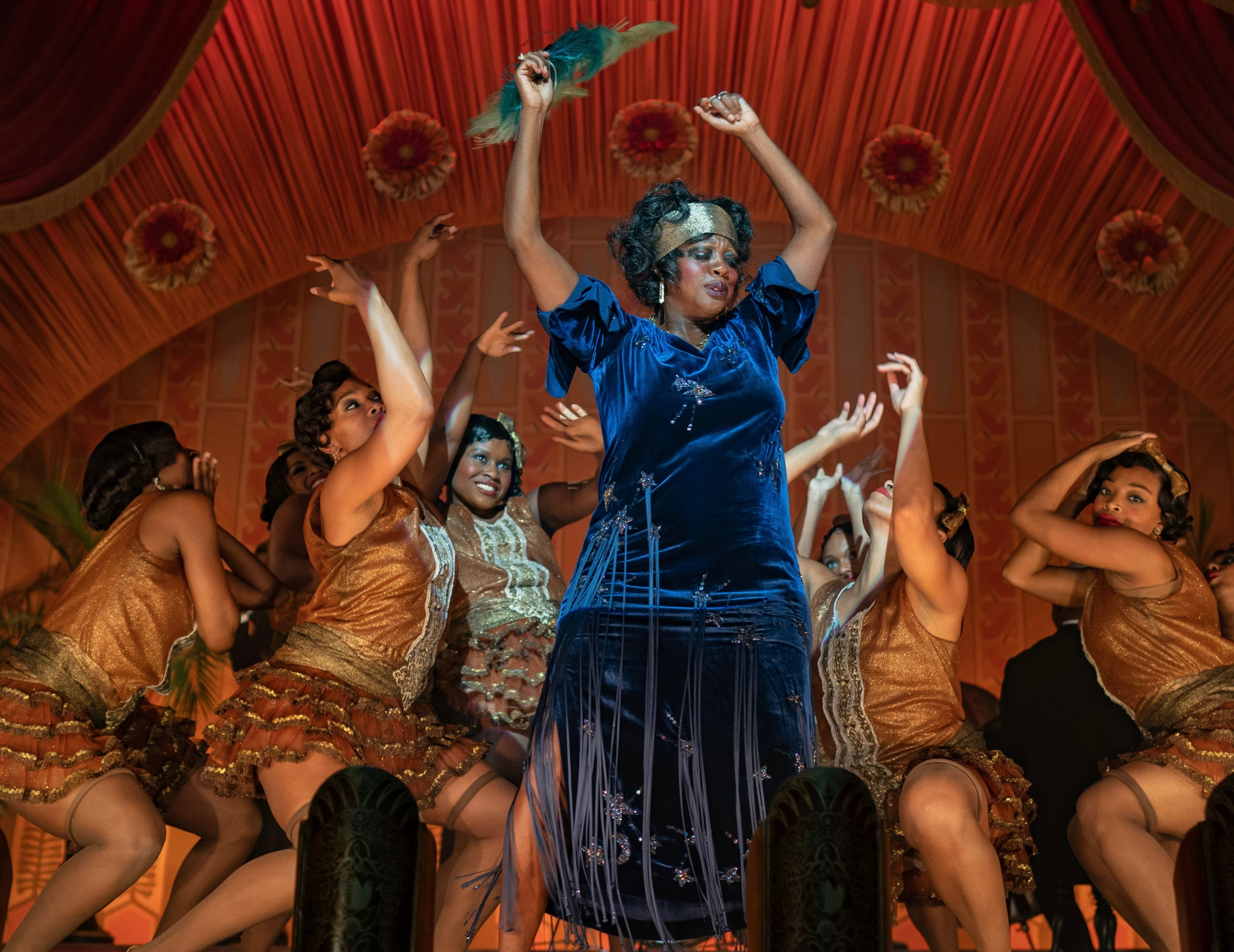 'Ma Rainey's Black Bottom' has Viola Davis as the singer who once starred on the Black variety-show circuit of the early 1900s. (photo: David Lee / Netflix)