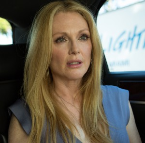 "In ""Maps to the Stars,"" Julianne  plays a Hollywood actress with a wacky GPS. (Photo: Focus World)"