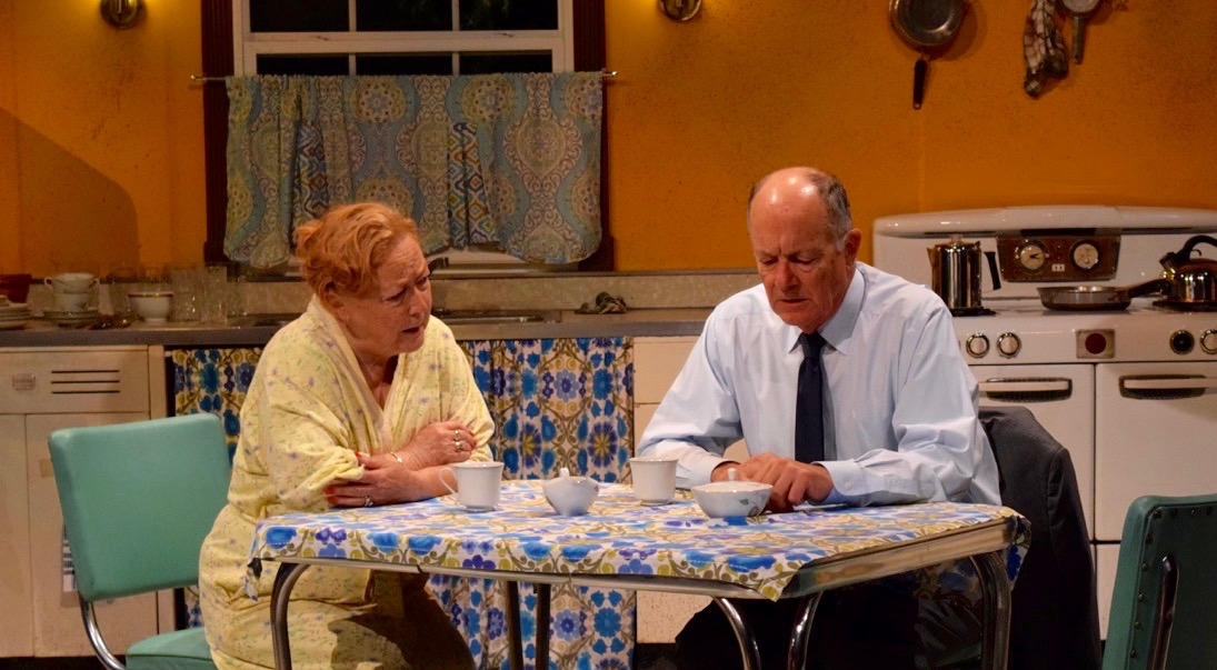 Kitchen realism: Lola (Susan McGregor-Laine) tries to impart some to her man.