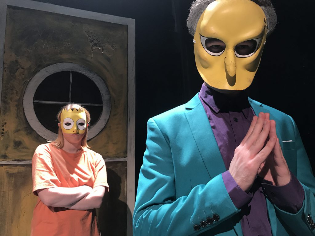 """Excellent"" is what the animated Mr. Burns would probably say at this moment in 'The Simpsons.' The plot of the 12 Peers production 'Mr. Burns, a Post-Electric Play' centers around a ""Simpsons"" episode. photo: Madison Hack"