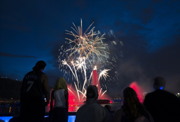 The three-day event ends with Zambelli fireworks over the Point in honor of Independence Day.