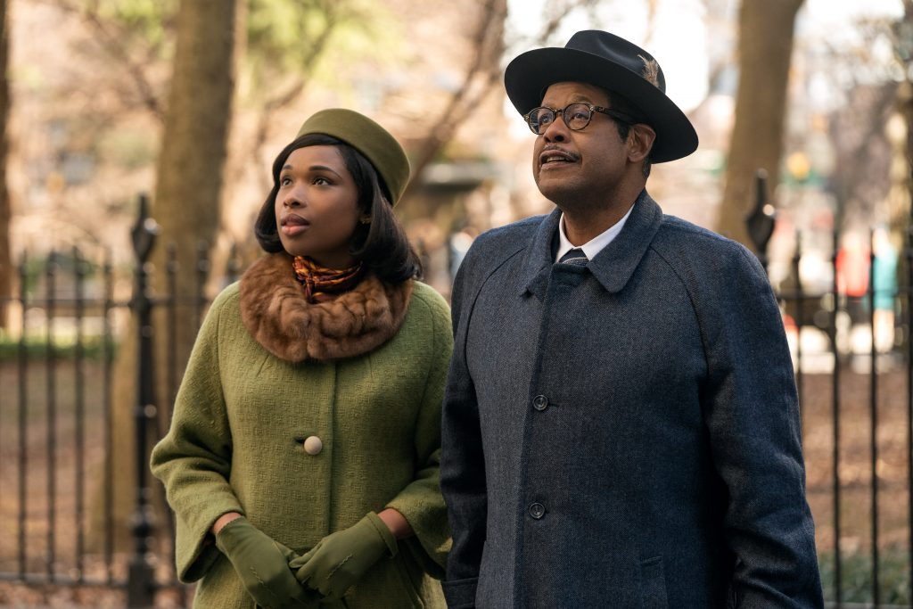 Franklin (Hudson) and her father (Forest Whitaker) soaking it all in before going into the record company.